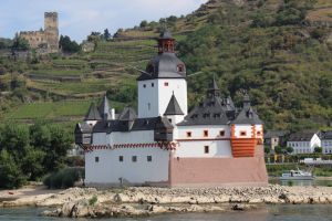 The Pfalzgrafenstein Castle in the Rhine by TheSoullessRedbeard