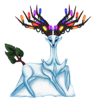 A Xerneas Snowmon for X-Mas by ToxicSnakeSkull