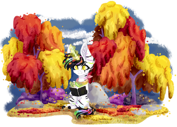 [OC]Drawing in Autumn by AdaKola