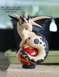 Tan and Black Spotted Dragon by MiniMythicalMonsters