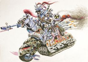 Four riders of the Apocalypse- War by alexander982