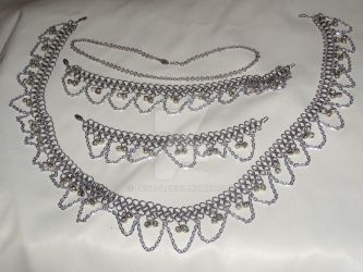 Chainmaille Jewelry Set by Des804