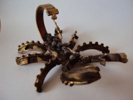 Steampunk small bronze scorpion by metalmorphoses