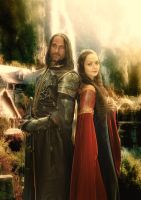 Arwen and Aragorn in Rivendell by Ungalianta