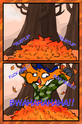 WP#23: that feeling when u dive in leaves by davespritenotdave