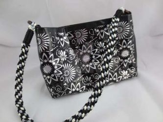Black and Silver Duct tape purse by yavie33