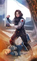 Captain America: Winter Soldier - commission by maXKennedy