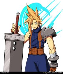 Cloud Strife Final Fantasy VII fanart (updated) by Gx3RComics