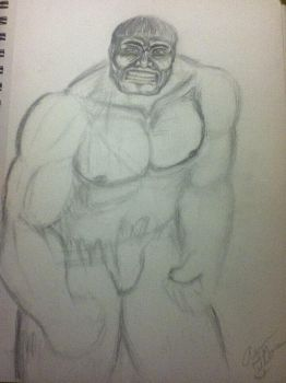 HULK sketch drawing by MIZTER-ROOTBEER