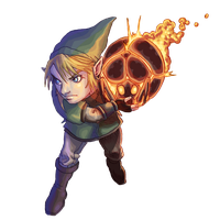 Link and Bombling by Phobos-Romulus
