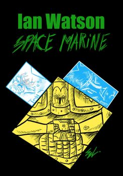 Space Marine book cover by madmaxcc