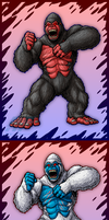 Primal Rage Kongs by AlmightyRayzilla