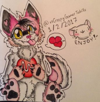 Fursona Drawing!~ ( Musically Request ) by CreepyGamerGirl2002