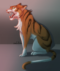 Angry Kitty by larissa-the-hanyou