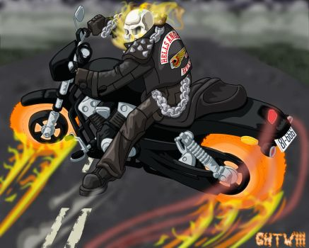 Ghost Rider on Route 81 by the-batcomputer