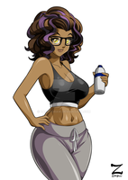 Commission - Fitness Girl by ZafiryDraw