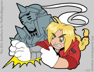 Bros Elric for therealeggman by raygirl