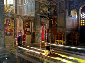 Greek Orthodox Church Interior 5 by Marahuta