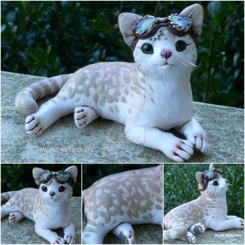 Gear Coated Tabby Cat by MysticReflections