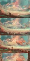 The journey and the big fish (process) by Mocaran