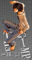 GIMP Splash - L from DeathNote by AnonymousLink