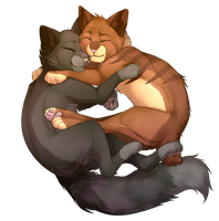 Warm embrace (commission) by th1stlew1ng