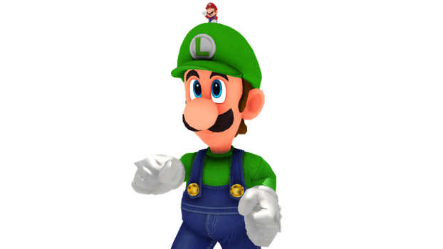 Giant Dreamy Luigi, Ready For Action! by HugoSanchez2000