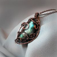 Wire wrapped Labradorite pendant by artual