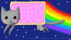 Nyan Cat aniversario by Catsofdeath