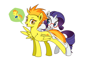 Commision - Spitfire and rarity by GashibokA