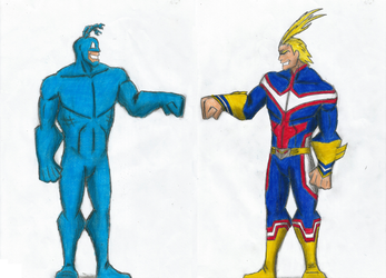 All Might meets The Tick by Newworlds117