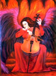 Cello Angel by PeachyWitchy
