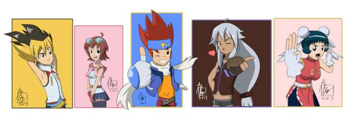 All Of Beyblade Characters by Snail-Guy