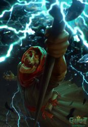 Tormented Mage - Gwent Card by akreon