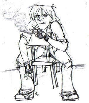 Request:Lance Smoking for Rain by Valoofle