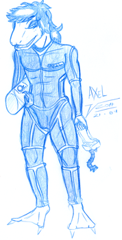 Axel's Diving Suit by ShinyMirlo