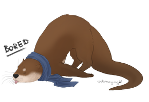 Bored Otterlock by catsmaycry