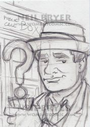 Doctor Who Sketch Cards WIP 7 by WombatOne