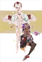 Dainty Duo +CLOSED+ by mostlyniceAdopts