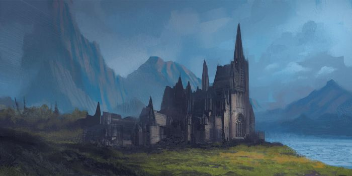 Lonely Abbey by the Lonely Loch by VincentiusMatthew