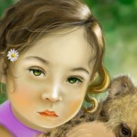 the girl and the hyena detail by Trutze