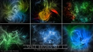 Galactic Space Brushes Set 1 by drkzin