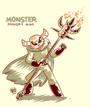 Monster Monday 005 -Interdimensional demon by rickruizdana