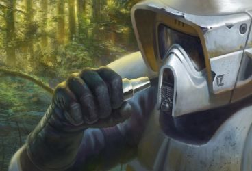 Biker Scout Long-Range Comlink - Star Wars: Legion by jubjubjedi