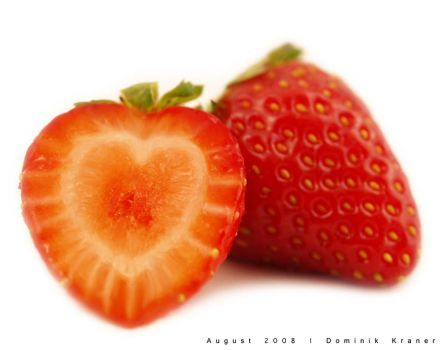 heart-shaped strawberry by dkraner