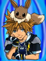 Sora-Eevee by rabbs