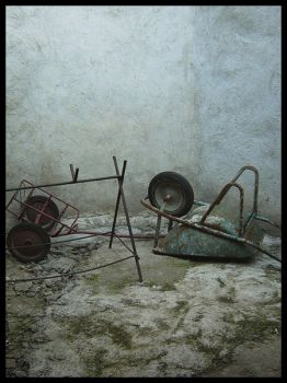 Wheel Barrow and the Goat by semaca