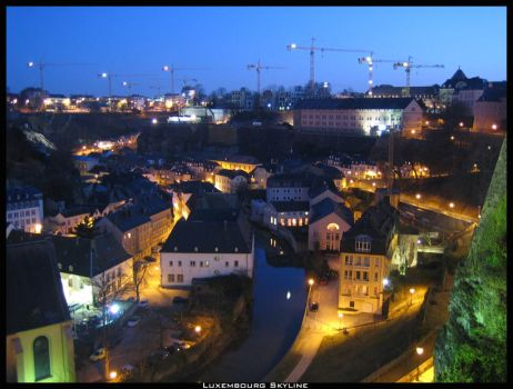 Luxembourg Skyline. by Nechbet