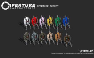 Aperture Turret Black by Zeptozephyr