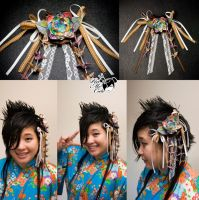 Origami lotus hair pin by xxpo0k13x
